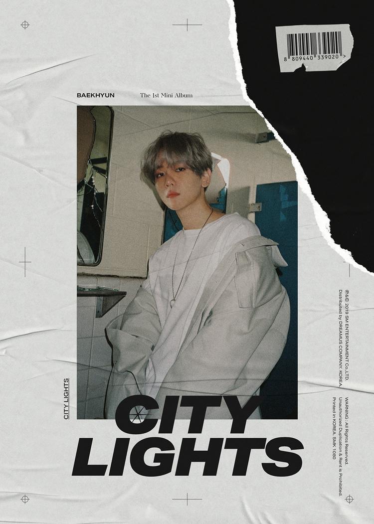 Sampul album Baekhyun,'City Lights'. Albun rilis pada 10 Juli 2019
